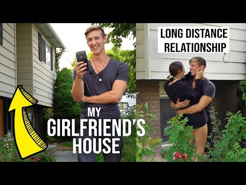 FACETIMING my GIRLFRIEND in front of her house and SURPRISING her!