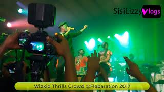 Wizkid dashed out money at felabration 2017 in lagos (watch video)