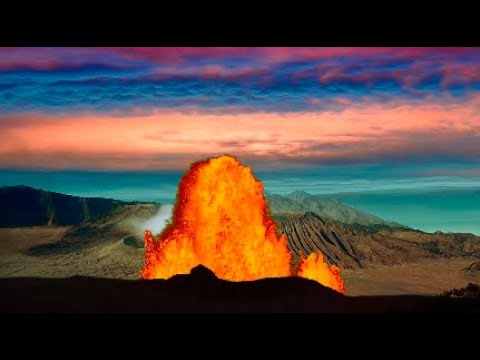 Download Amazing Relaxing Volcano. relaxing nature Ambience for study and meditation.