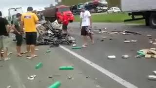 Asidente na auto pista hoje cedo