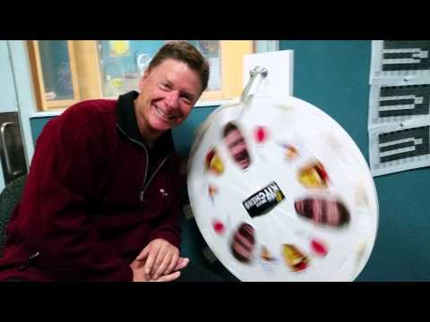 Rob from New Image Kitchens and his prize wheel
