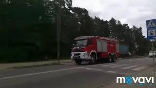 Przejazd alarmowy zastępów do pożaru