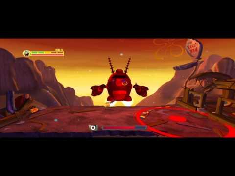Sponge Bob- Губка боб Квадратные Штаны Планктон Месть Роботов (Битва с Планктоном конец игры)