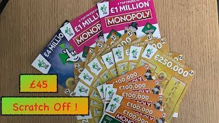 national lottery scratch cards £45 worth !! any big winners !