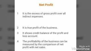 Difference between gross profit and net profit.