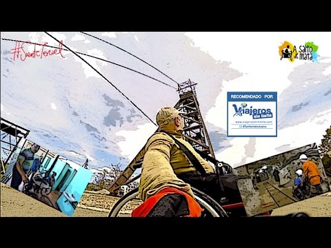 The mining tourism in Teruel with wheelchair and handbike