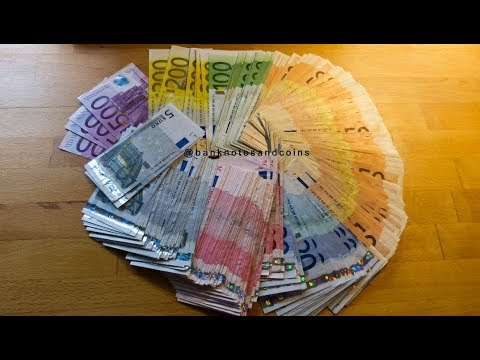 counting stack of old euro banknotes youtube. Black Bedroom Furniture Sets. Home Design Ideas
