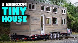 A 3 Bedroom Tiny House On Wheels | 28-foot With Large Kitchen