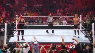 Vader Returns and Destroys Heath Slater WWE Raw 6/11/12