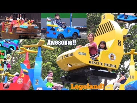 We Love Amusement Theme Parks! Kiddie Car Ride, Roller Coasters and More! Our Trip to Legoland