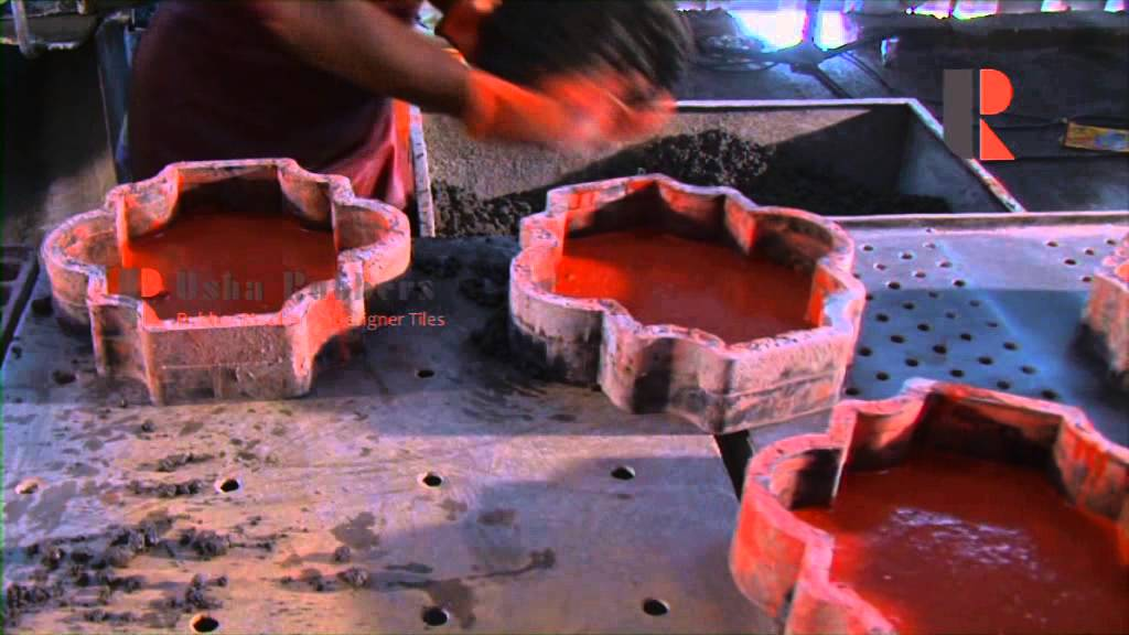 How To Make Concrete Tiles Interlock Tiles By Usha