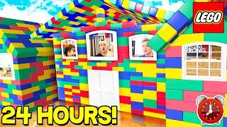 24 HOUR GIANT LEGO HOUSE CHALLENGE! 🏠⏰