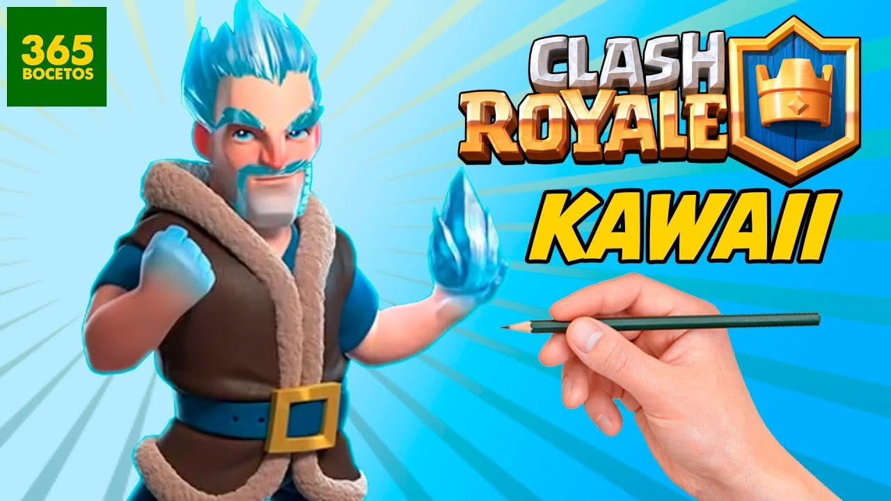 Como Dibujar Al Mago De Clash Royale Estilo Kawaii Youtube