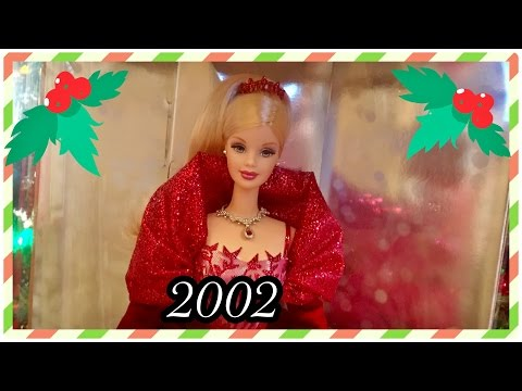 2002 / 28 Years of Holiday Barbie Dolls / Christmas Collection Advent / 02' Holiday Celebration Doll