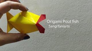 #Origami pout fish | kissy fish | paper fish #diy