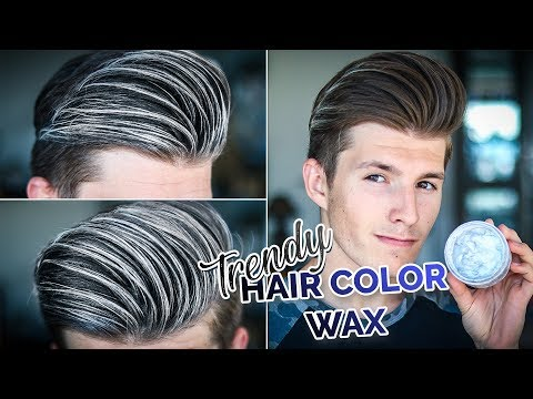 Trying Trendy Hair Coloring Wax | Silver Hair Color Wax 2018