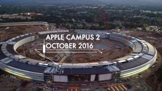 GLOWING APPLE CAMPUS 2 OCTOBER 2016 4K DRONE CONSTRUCTION UPDATE!