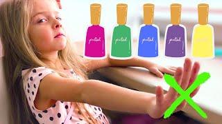 Алисия В САЛОНЕ КРАСОТЫ для детей Делаем Детский Маникюр Pretend Play Beauty Salon For Kids Nails
