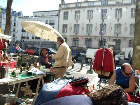 brocante vide grenier 1 paris france youtube. Black Bedroom Furniture Sets. Home Design Ideas