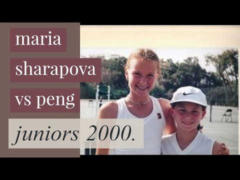 Maria Sharapova (13 yrs old) vs Peng 2000 Juniors