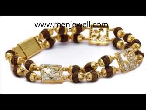 Latest Jewellery Design Mens Jewellery rudraksha bracelet for men by menjewell.com