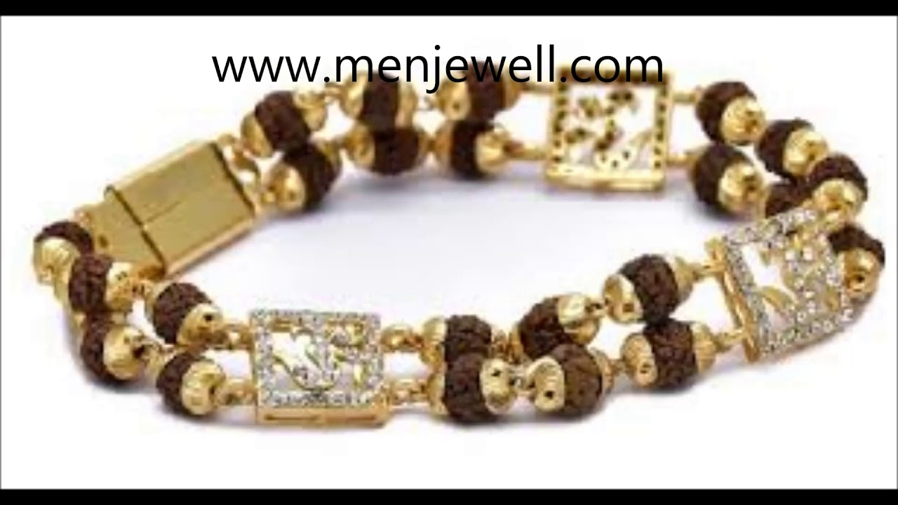 Latest Jewellery Design Mens Rudraksha Bracelet For Men By Menjewell