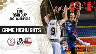 Chinese Taipei beat Malaysia by a margin of 104 points! Highlights - FIBA Asia Cup 2021 - Qualifiers