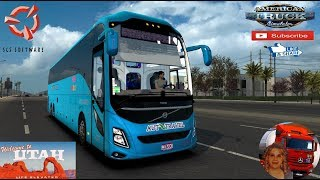 American Truck Simulator (1.36)   Bus Simulator Volvo 9800 by DBMX Travel in Utah DLC by SCS Software Las Vegas to St. George + DLC's & Mods  Support me please thanks Support me economically at the mail vanelli.isabella@gmail.com  Roadhunter Trailers Heav