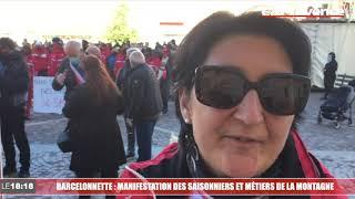 Barcelonnette : manifestation des saisonniers et métiers de la montagne