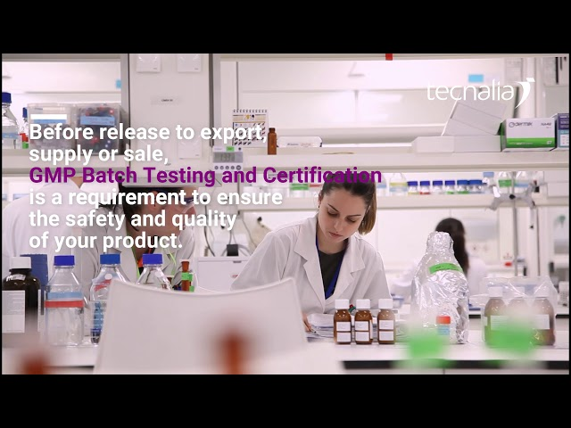 GMP Quality control testing (BATCH Testing) AND BATCH certification for release