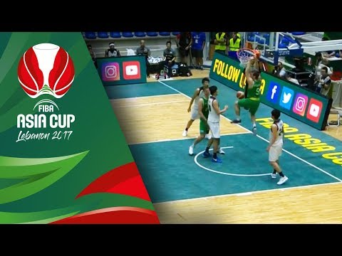 First alley-oop slam in the FIBA Asia Cup 2017 from McCarron