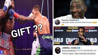 ADRIEN BRONER CLEARY LOSS SAYS TERENCE CRAWFORD AND JERMELL CHARLO, PLUS TEDDY ATLAS ! GIFT DECISION