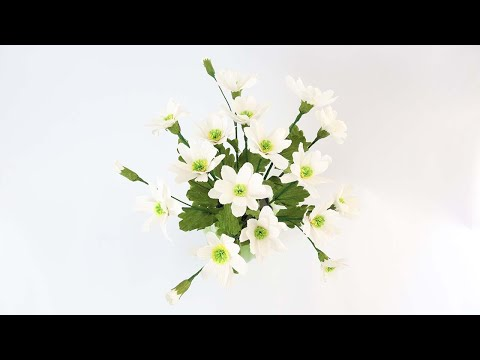 DIY Daisy Paper Flowers | Crepe Paper Daisy Flower Tutorial |  How To Make Daisy Paper Flowers