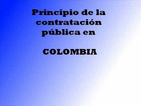 Principios de la contratación publica en Colombia - YouTube