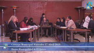 Concejo Municipal Miércoles 17 de Abril 2019 - El Quisco