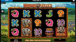 KING TUSK FREE SPINS Online Slot Machine Live Play Free Spins Nice BONUS Win