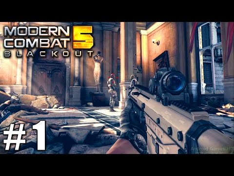 Modern Combat 5: Blackout - Story Gameplay Nvidia Shield Tablet Android HD 1080P PART 1