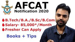 AFCAT Notification 2020  Salary, B.Tech, B.Sc, B.Com | Latest Govt  Jobs after B.Tech B.Sc B.Com