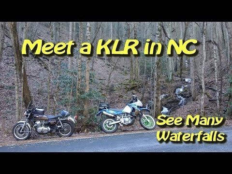 KLR 650 Meet Up in NC - Looking Glass Falls