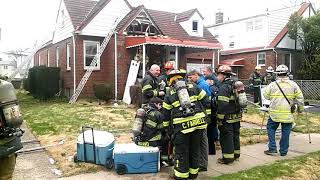 Williston Park Working House Fire 44 Collins Ave