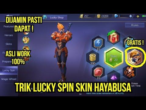 TRIK LUCKY SPIN HAYABUSA MOBILE LEGENDS !