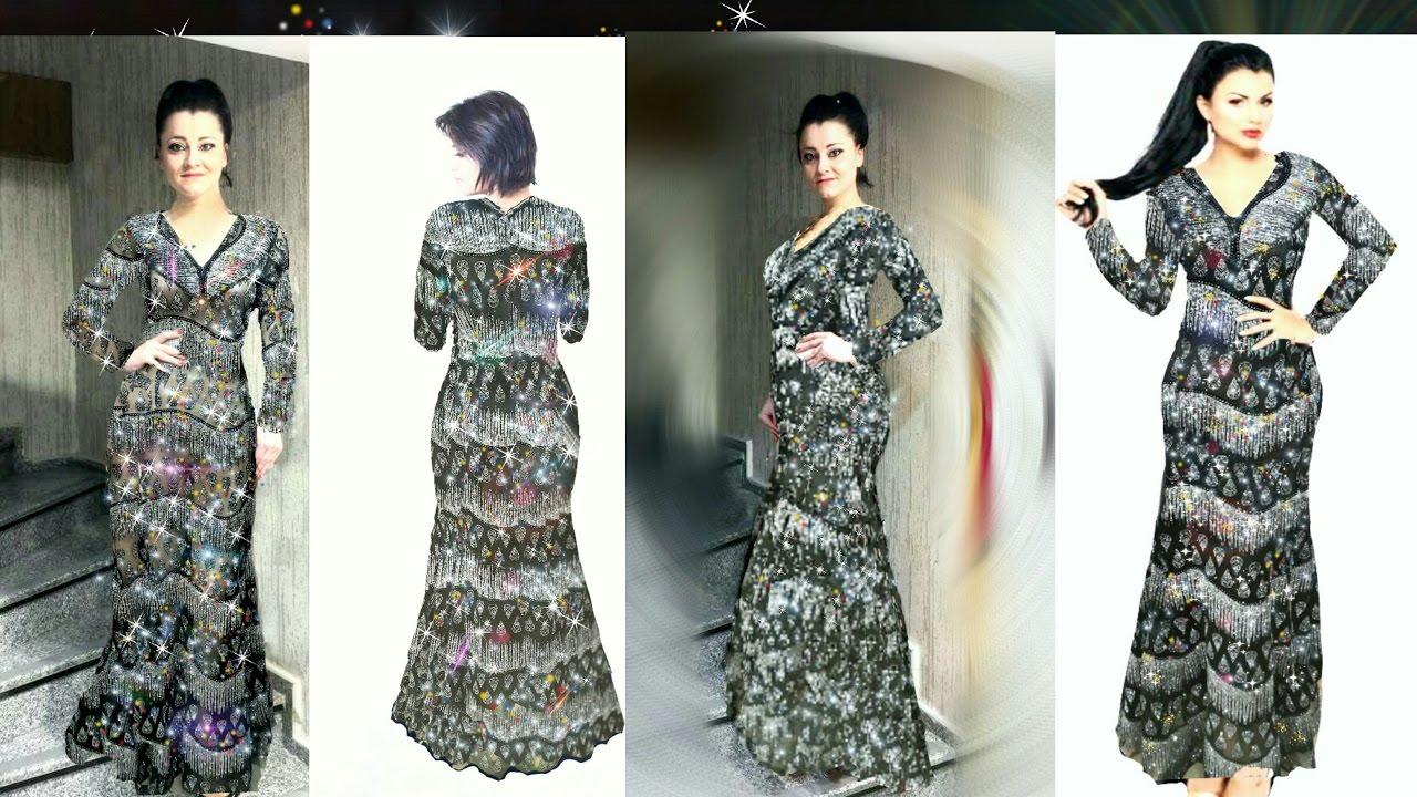 be0ebdf2e طريقة خياطة فستان مناسبات جدا جميل ورائع - YouTube