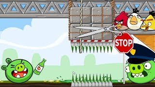 Crush Bad Piggies - 3 ANGRY BIRDS AMBUSHING PIGGIES