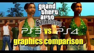 GTA: San Andreas PS3 Vs PS4 Graphics Comparison