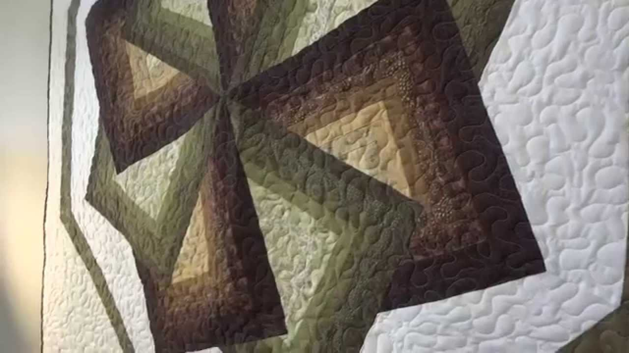 Amish Made Quilted Wall Hanging Star Spin Design Youtube