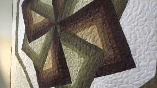 Amish Made Quilted Wall Hanging - Star Spin Design (id: 48379)