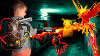 CATCHING RARE POKEMON ! WITH GHOST BUSTER GUN . ZAPDOS , UMBREO , PIKACHU