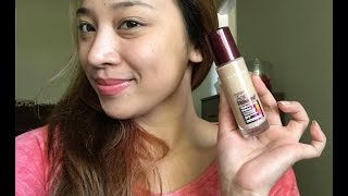 Maybelline instant Age rewind foundation review + demo + try on