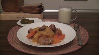 Картофель с мясом в мультиварке Panasonic SR-TMH18. Готовим дома.
