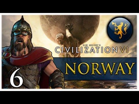 IMPROVING PRODUCTION! Civilization VI - NORWAY Gameplay #6